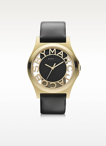Henry Skeleton 40mm Stainless Steel Watch w/Leather Strap - Marc by Marc Jacobs