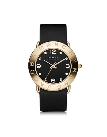 Marc by Marc Jacobs - Amy 36mm Black Leather Strap Watch