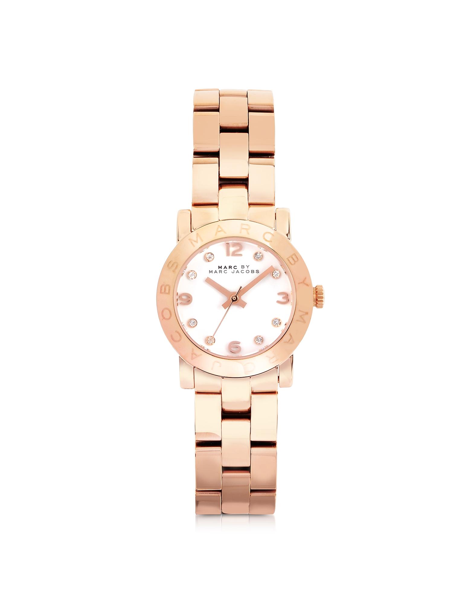 Mini Amy 26mm - Часы из Розовой Нержавеющей Стали с Кристаллами