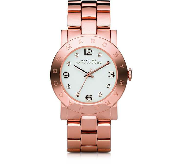 MARC BY MARC JACOBS Amy 36.5mm Rose Stainless Steel Bracelet Watch