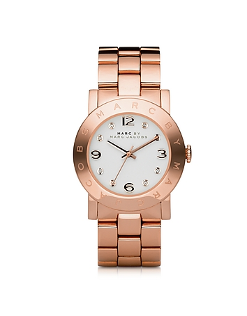 Amy 36.5mm Rose Stainless Steel Bracelet Watch