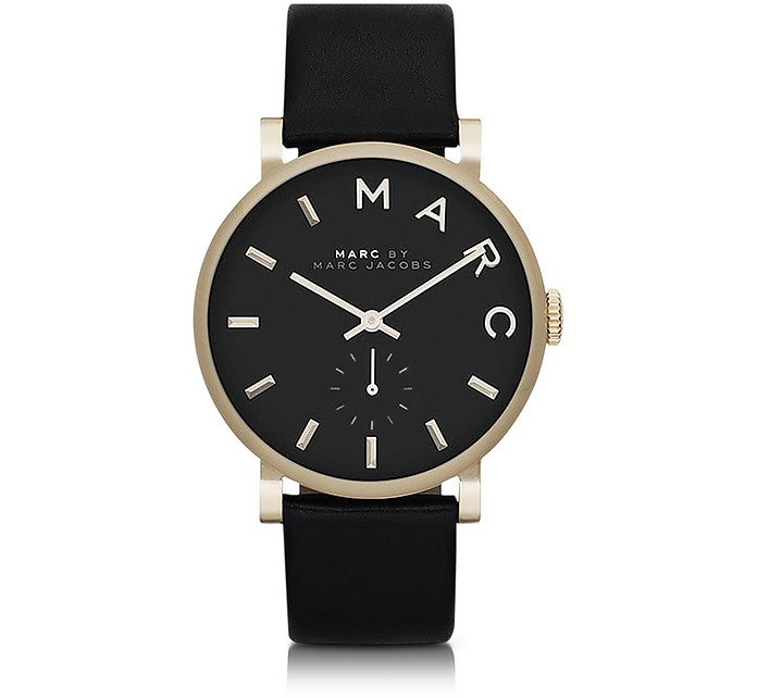 Black Baker 36.5MM Round Women's Watch - Marc by Marc Jacobs