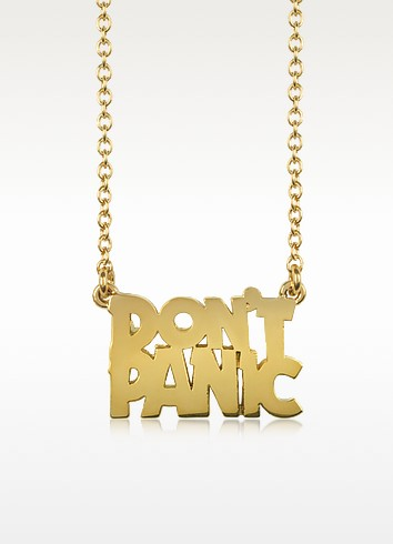 Don't Panic Golden Necklace - Marc by Marc Jacobs