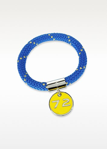 Blue Nylon and Silvertone Brass 72 Location Bangle - Marc by Marc Jacobs