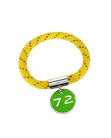 Yellow Nylon and Silvertone Brass 72 Location Bangle - Marc by Marc Jacobs
