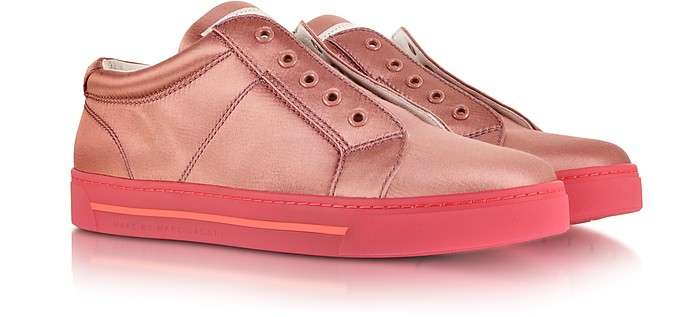 Cute Kicks Lo Tops Satin Sneaker in Blush - Marc by Marc Jacobs