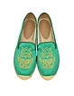Owl Green Satin Espadrille Flat - Marc by Marc Jacobs