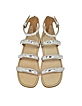 Seditionary Laminated Silver Leather Flat Sandal - Marc by Marc Jacobs