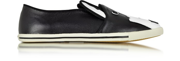 Neville Black and White Leather Slip On Sneaker - Marc by Marc Jacobs
