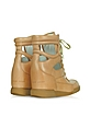 Cutout Nude Leather Wedge Sneakers - Marc by Marc Jacobs