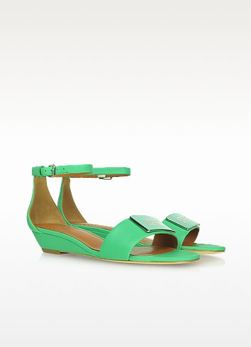 Mint Green Leather Wedge Sandals - Marc by Marc Jacobs