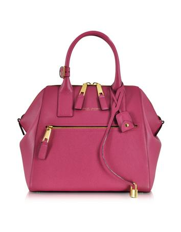 Textured Large Raspberry Incognito Satchel