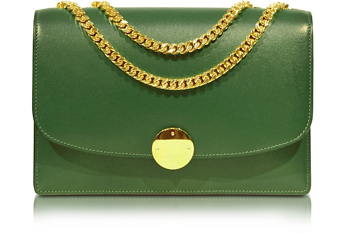 Box Calf Trouble Bottle Green Shoulder Bag - Marc Jacobs
