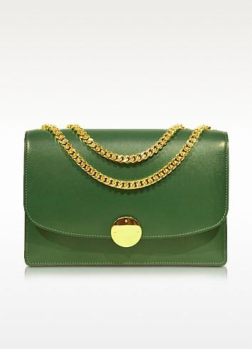 Box Calf Trouble Bottle Green Shoulder Bag - Marc Jacobs