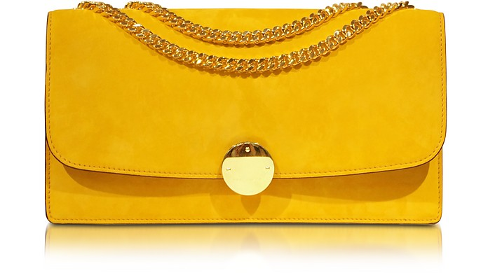Double Trouble Sunflower Suede Shoulder Bag - Marc Jacobs