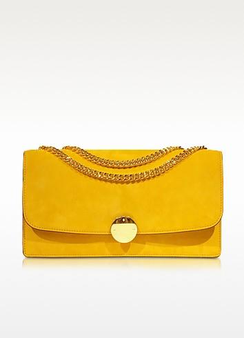 Double Trouble Sunflower Suede Shoulder Bag - Marc Jacobs