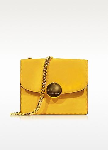 Mini Trouble Sunflower Yellow Suede Shoulder Bag - Marc Jacobs