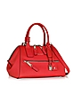 Textured Small Incognito Scarlet Leather Satchel - Marc Jacobs