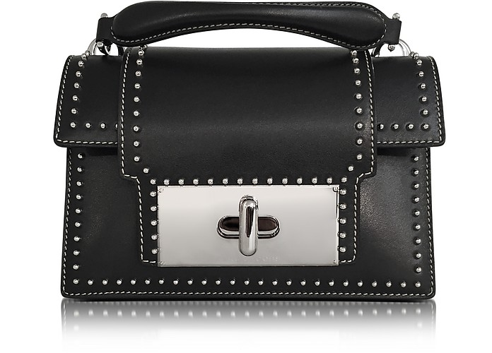 Black Leather Studded Mischief Handbag - Marc Jacobs