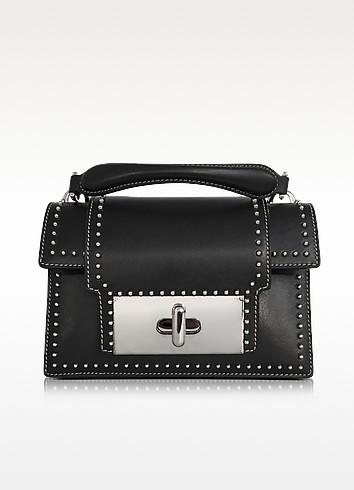 Black Leather Studded Mischief Handbag - Marc Jacobs
