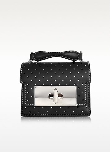 Black Leather Mini Studded Mischief Handbag - Marc Jacobs