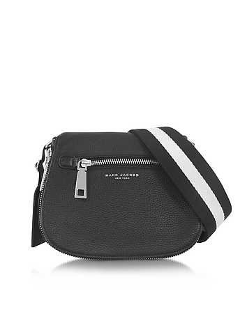 Gotham City Black Leather Small Saddle Bag