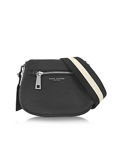 Gotham City Black Leather Small Saddle Bag - Marc Jacobs