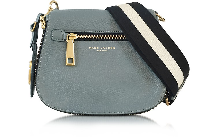 Gotham City Dolphin Blue Leather Small Saddle Bag  - Marc Jacobs