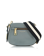 Marc Jacobs Gotham City Borsa con Tracolla in Pelle Dolphin Blue - marc jacobs - it.forzieri.com