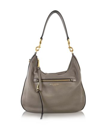 marc jacobs female recruit mink leather hobo bag