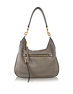 Marc Jacobs Recruit Hobo Bag in Pelle Mink Gray - marc jacobs - it.forzieri.com