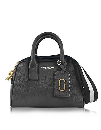 Gotham City Black Leather Small Satchel Bag
