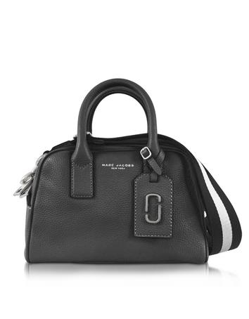marc jacobs female gotham city black leather small satchel bag