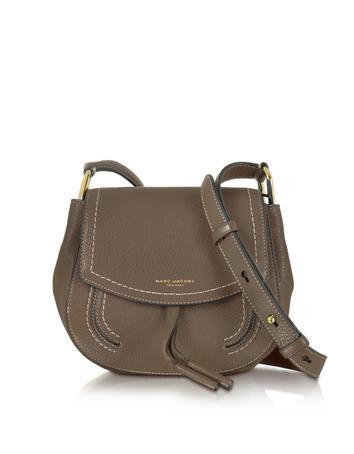 marc jacobs female maverick teak leather mini shoulder bag