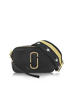 Snapshot Black Leather Camera Bag w/Shoulder Strap - Marc Jacobs