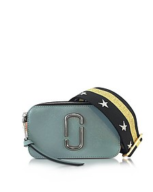 Snapshot Dolphin Blue Leather Camera Bag w/Shoulder Strap - Marc Jacobs