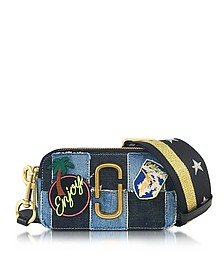 Snapshot Denim Camera Bag w/Multi Patches - Marc Jacobs