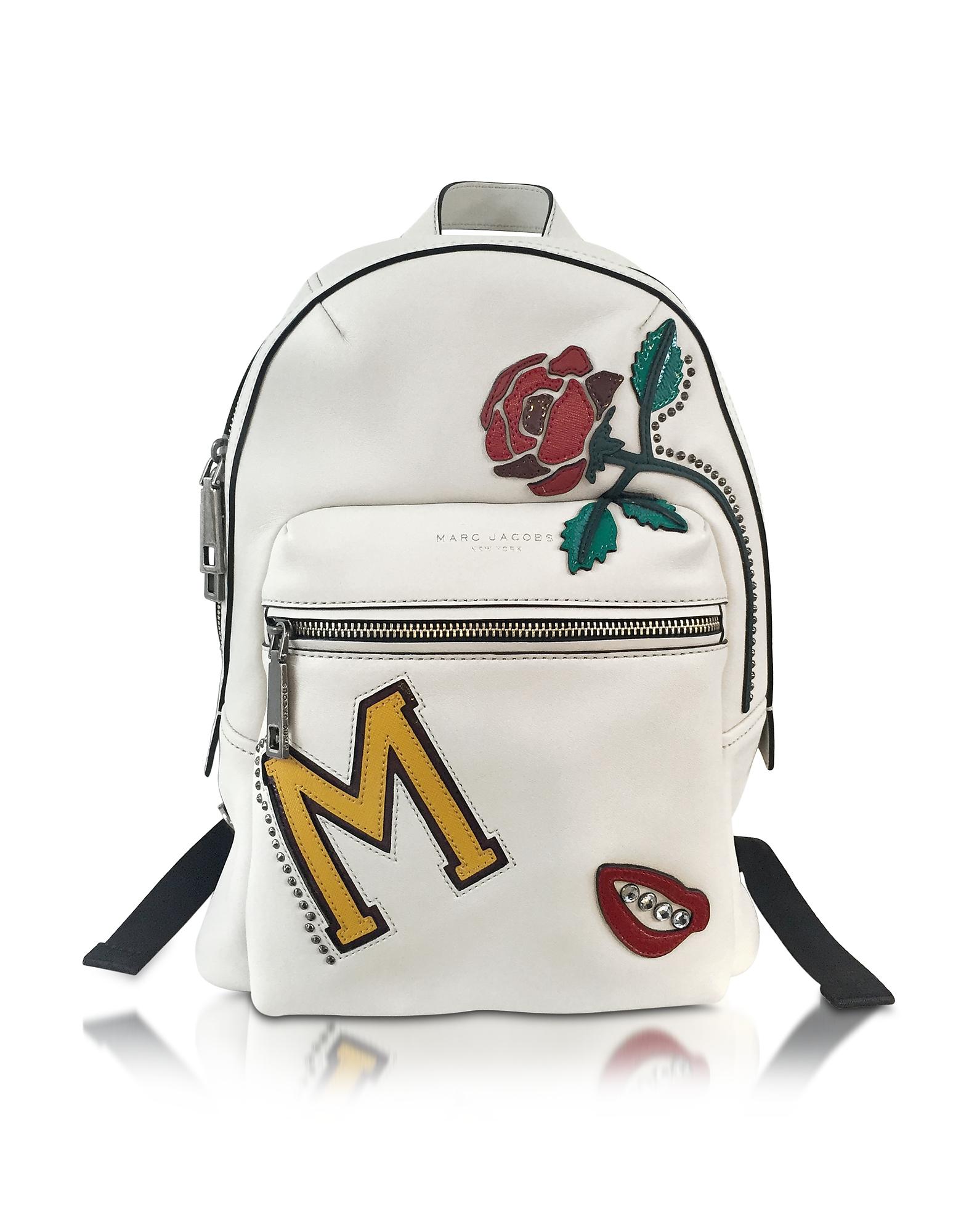 Marc Jacobs MJ Collage - Байкерский Кожаный Рюкзак с Множеством Нашивок