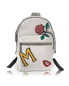 MJ Collage Biker Dove Leather Backpack w/Multi Patches - Marc Jacobs
