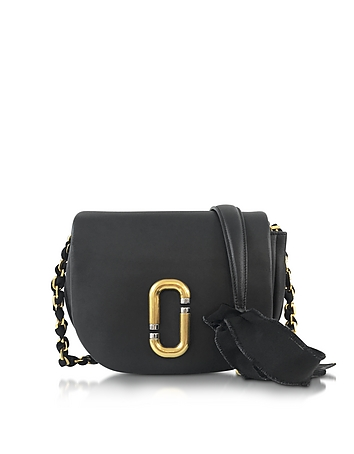 Kiki Black Leather Shoulder Bag