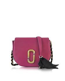 Kiki Wild Berry Leather Shoulder Bag  - Marc Jacobs