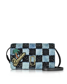 Patchwork Denim Wallet Leather Strap - Marc Jacobs