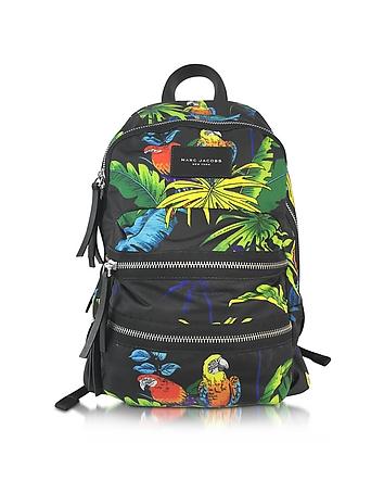 Parrot Printed Biker Mini Backpack