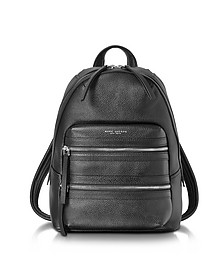 Black Pebbled Leather Biker Backpack - Marc Jacobs