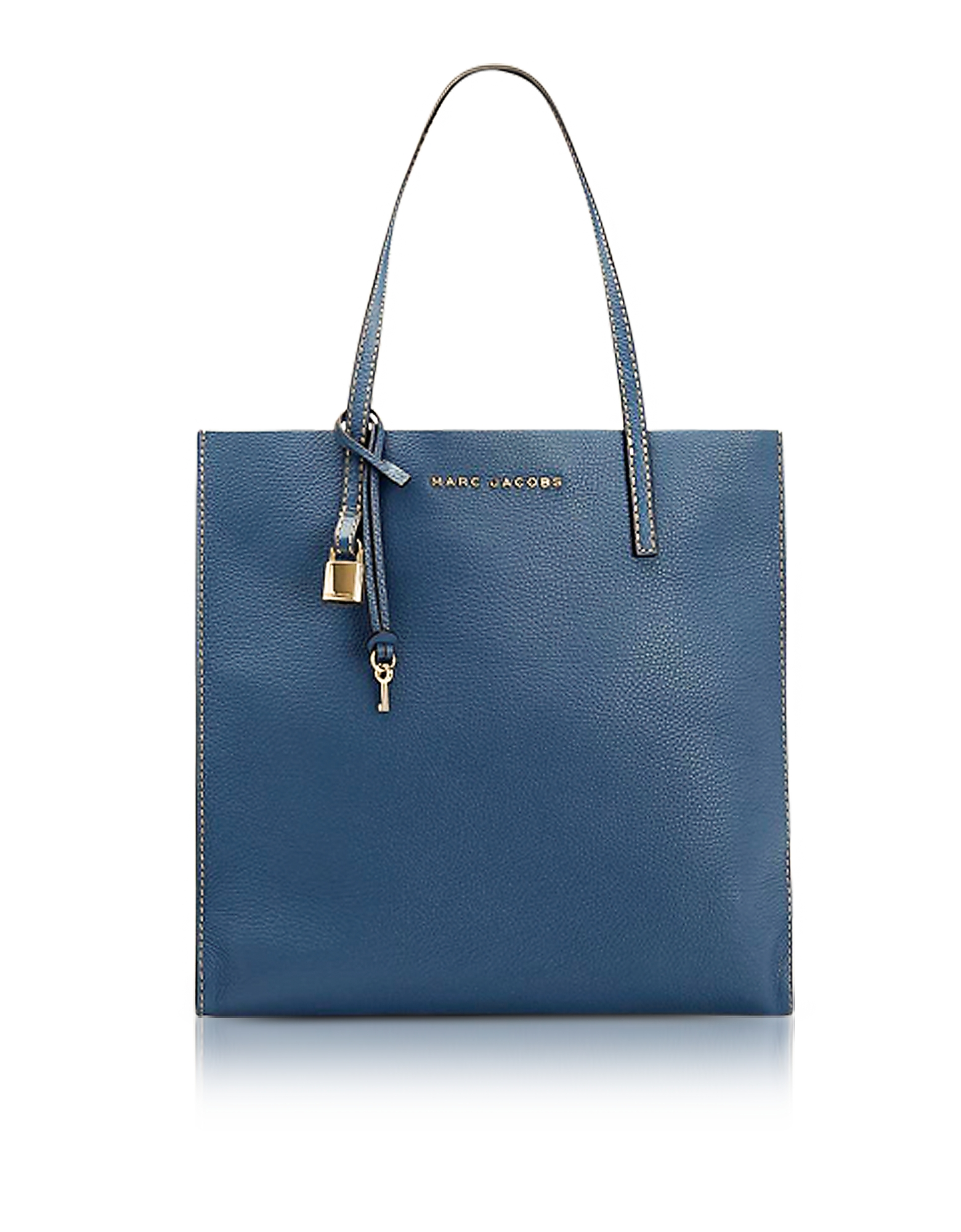 Marc Jacobs Handbags, Vintage Blue Leather The Grind Tote Bag