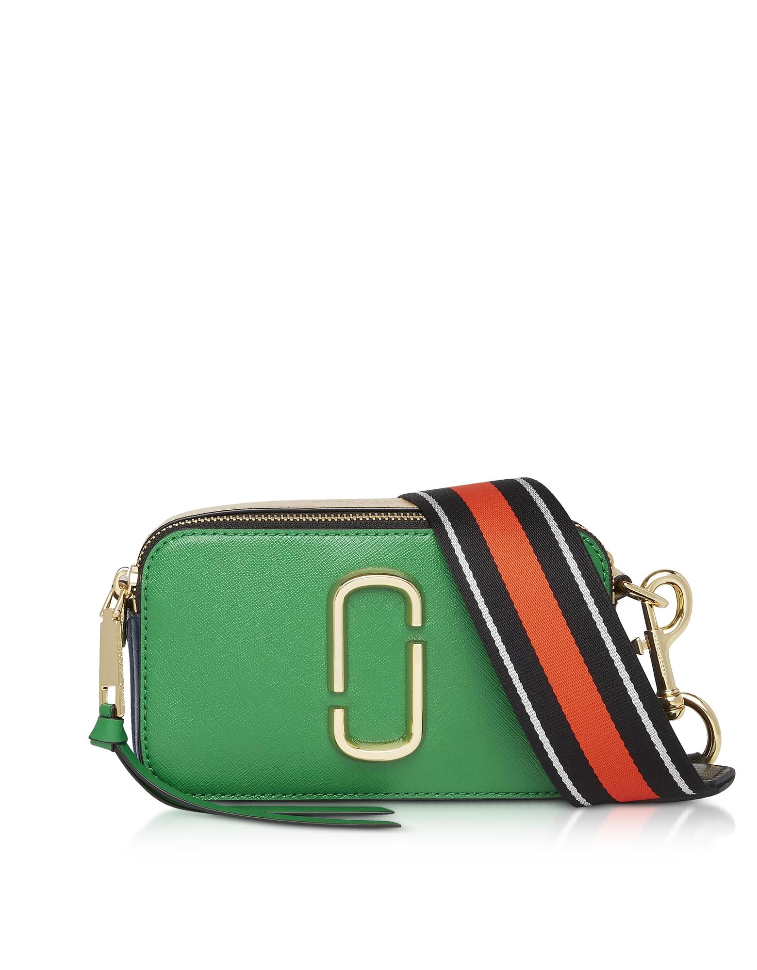 Logo Strap Snapshot Camera Bag in Pepper Green Multi