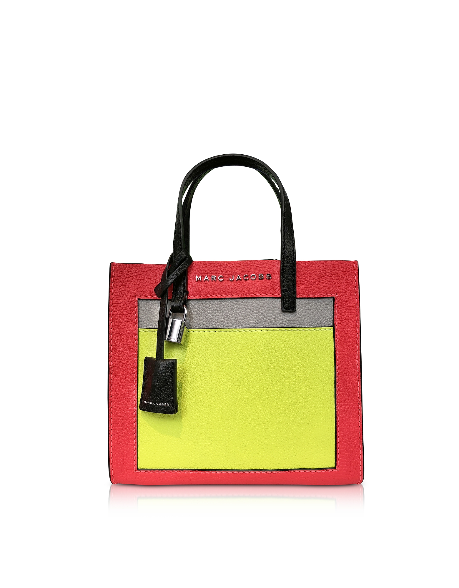 Grainy Leather The Mini Grind Colorblocked Tote Bag