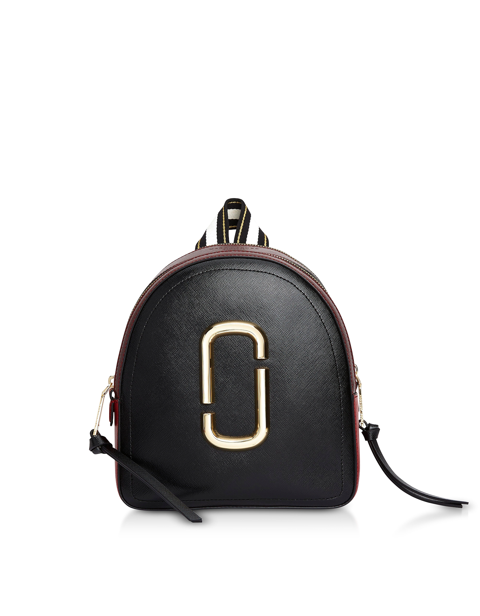 Color-Block Leather Pack Shot Backpack
