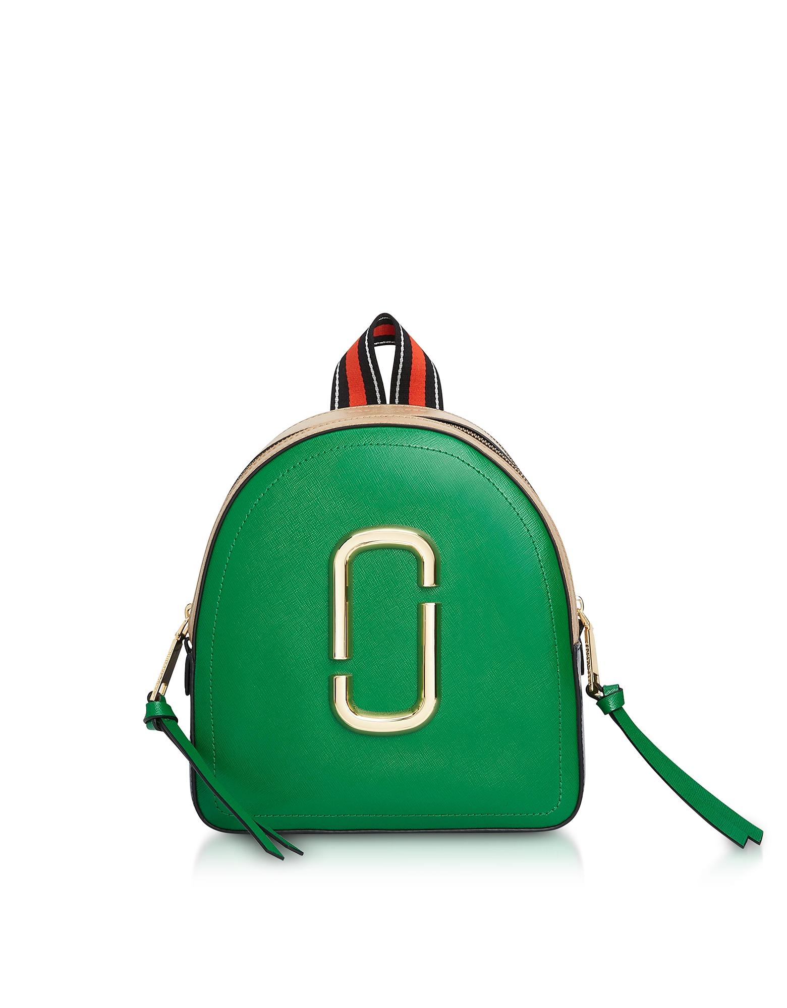 Pack Shot - Кожаный Рюкзак с Цветными Блоками