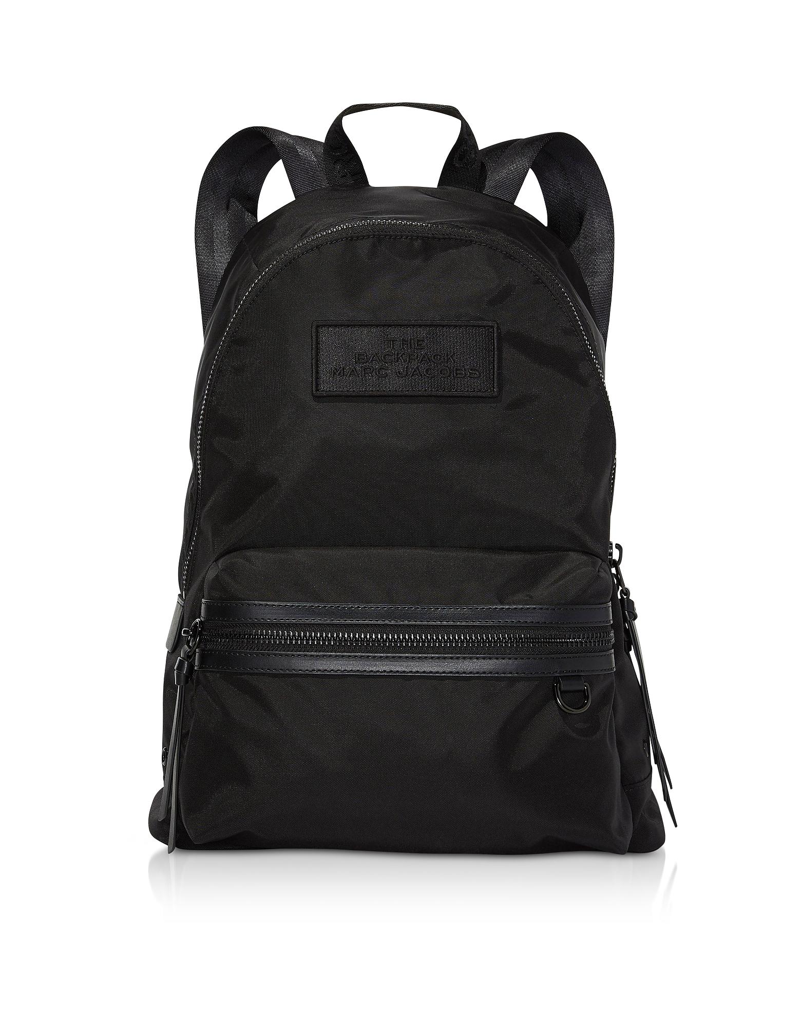 Marc Jacobs Designer Handbags, Black Nylon The Large Backpack DTM
